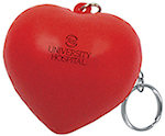 Valentine Heart Key Chain Stress Balls